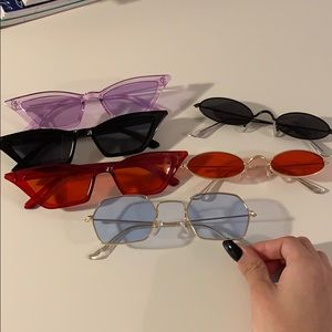 Retro colored glasses lot